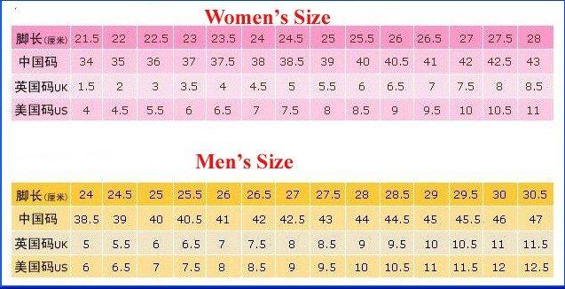 and shoe sizes style guru fashion glitz