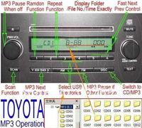 Автомобильный CD-плеер YATOUR MP3 USB SD AUX Toyota/lexus/scion