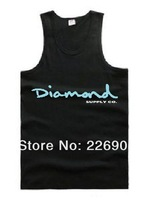 Мужская майка diamond supply tank tops cotton high quality diamond supply vest in discount 2013 summer new