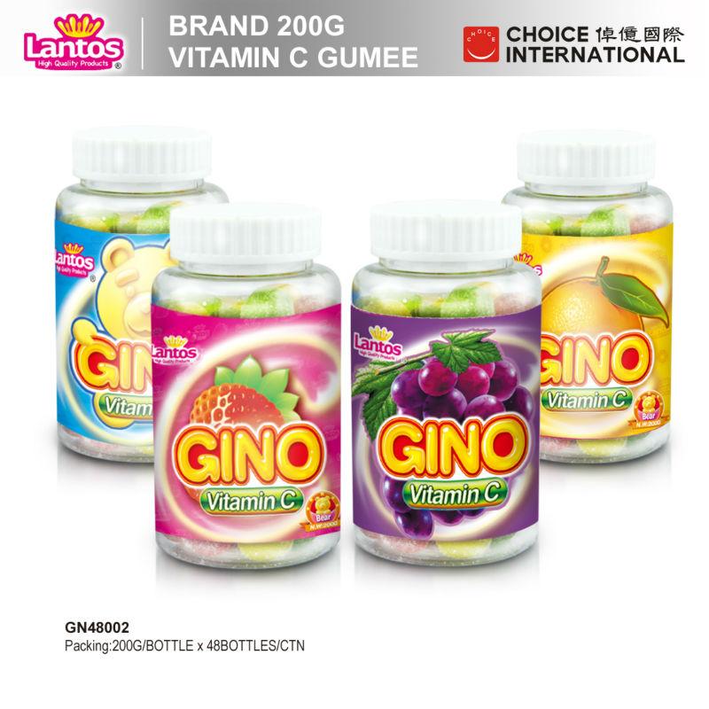 Lantos brand 200g Vitamine C halal beef gelatin gummy candies