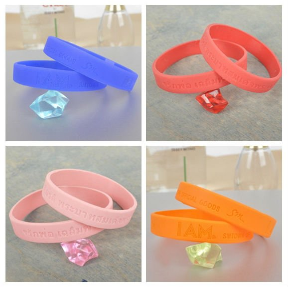 Glow in the Dark Cool Colourful Silicone Sport Wristband Bracelet
