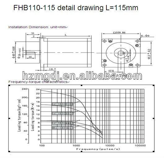 FHB110-115 detail drawing