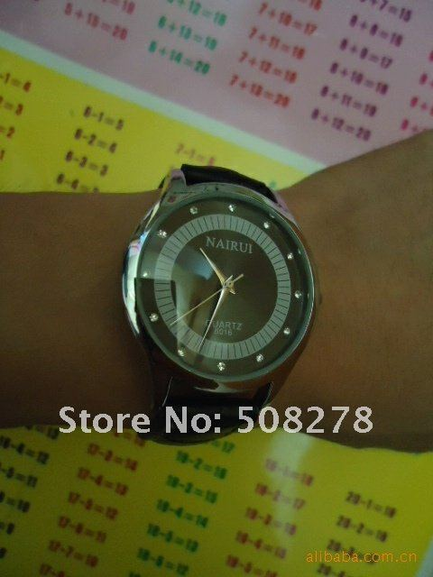 superior lover watch, PU leather watch for couple with competitive price 10pcs free shipping+gift watch wholesale
