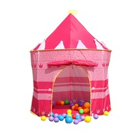 Детская игровая палатка New Sunmmer Childern kids Playing Indoor&Outdoor Pink Palace Play Game Tent Castle Kids Toy
