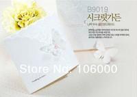 весной бабочки три раза свадебные приглашения с конверт и печать, 50pcs/lot