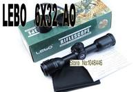 Винтовочный оптический прицел LEBO 6X32AO mil dot reticle sight glass Rifle Scope with Free Mounts 20mm or 11mm