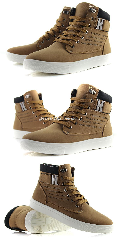 2014 Новый Zapatos де Хомбре Мужская мода осени весны кожаные ботинки стрит Повседневный Мода модные кроссовки Холст кроссовки