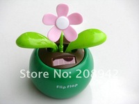 Best selling!! Lovely solar apple flower swing automotive supplies car accessories ornaments toy gift Free shipping,5 pcs/lot
