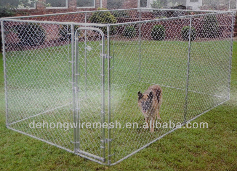 Metal tube or wrought iron or chain link outdoor dog kennel/house/cage/panel/gate(China factory)