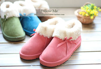 Товары на заказ After the package with cotton-padded slippers plush platform winter cotton-padded shoes lovers derlook snow boots