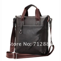 Free shipping-Fashion 2012 hot sale new leather men's  business bag Generous fashion leather bag men's shoulder bag Briefcases