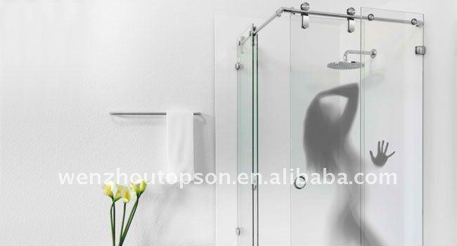 Porte coulissante en verre de douche for Portes de douche en verre