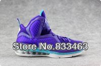 Женская баскетбольная обувь Famous Player Lebron 9 Purple Royal Blue Women's Basketball Shoes, Fashion Sport Shoes
