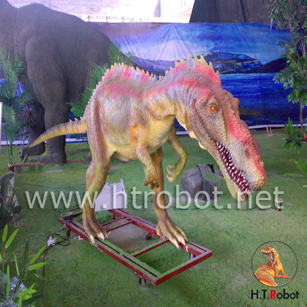 Lifelike mechanical simulation dinosaur for amusement park to display