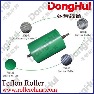 textured roller-en17,750*6000mm,for hot fabric,3D pattern,laser engraving,made by Shanghai Donghui Roller,Chinese famous manufac