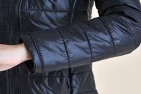 Зимние тепловой ватный Пальто женские хлопок мягкий куртка плеча pad верхняя одежда черный белый s m l xl