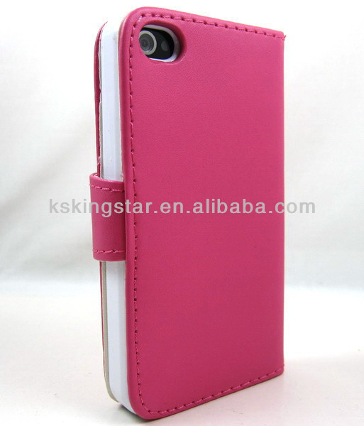 wallet grid leather phone mobile cover for iphone