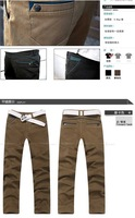 winter thicken Men's cotton straight casual pants High-quality high-end top leisure trousers 100% cotton / size 29-34 / 2 colors