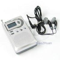 новичок карманный fm радио приемник 2 группы lcd будильник
