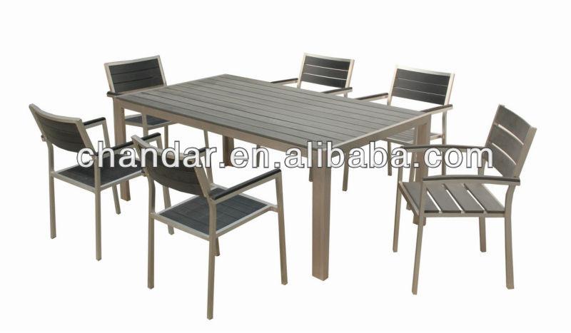 En Plein Air Jardin En Aluminium Bross Polywood Table Tables En M Tal Id De Produit 592710769