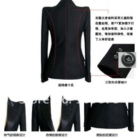 Женский брючный костюм 2013 shoulder pad one button elegant black women suit S, M, L, XL, XXL, 3XL, 4XL