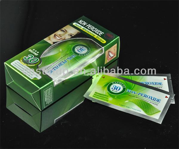 Mint flavor dental whitestrips,crest tooth whitening strips