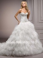Свадебное платье Luxurious quinceanera ball gowns Tulle Skirt Beaded and Embroidery Wedding Dresses 2013