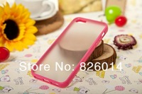Чехол для для мобильных телефонов New plastic cases for iphone4, soft skin TPU PC Gel Bumper Back case cover for iphone 4 4G 4S, 10pcs/lot