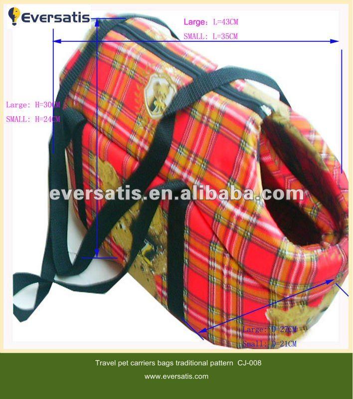2012 warm soft fabric pattern dog bag