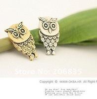 Серьги-гвоздики Mini Order Is $10, mini vintage double colors charm owl earrings
