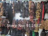 Волосы для наращивания 1#, DEEP WAVE 3PCS Hair Extension, Fashion Natural Hair Weft .AAA Quality