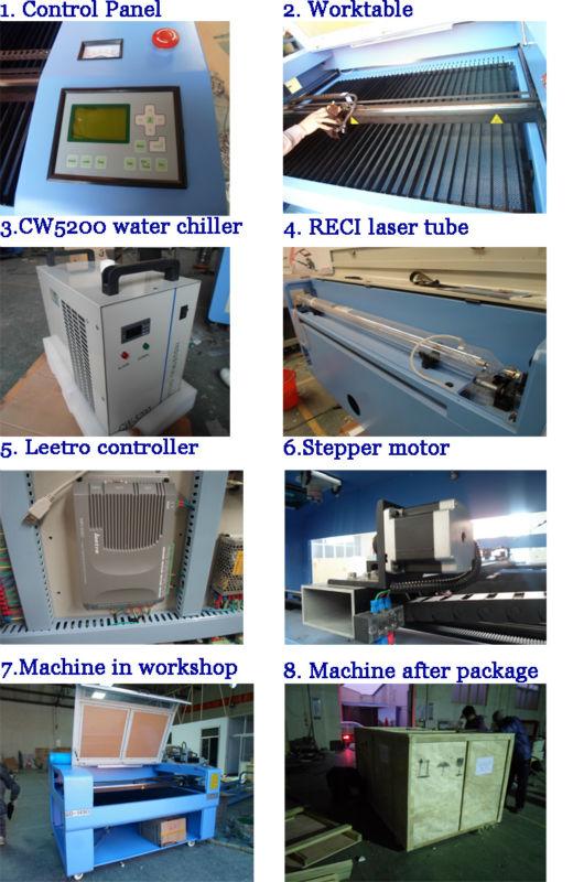 tops laser engraving machine / 1410 laser engraving machine with CE QD-1490 / QD-1410