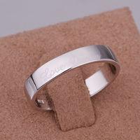 Кольцо Platinum Plated Men Zircon Love Forever Wedding Ring High Quality Bridal Jewelry No Fade Nickle