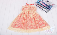 Платье для девочек 2013 Summer Girls One-Piece Dress Dream of bud silk skirt Gown girls' skirt, 2 colors available