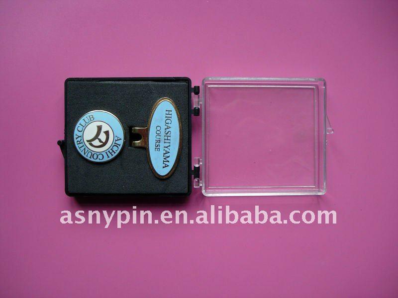 metal magnetic golf cap clip ball marker