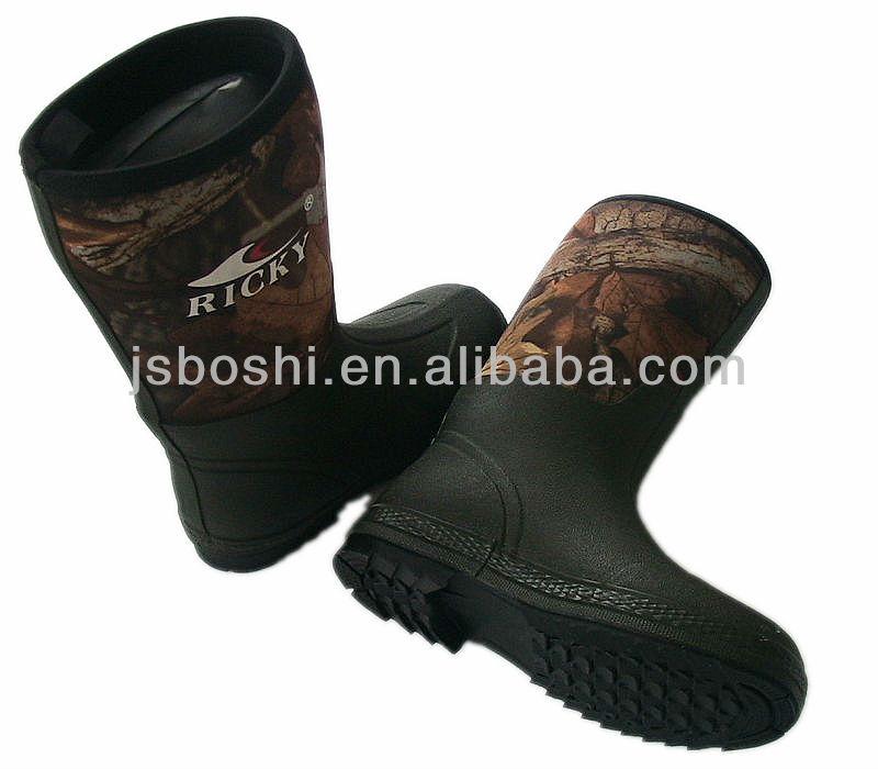 5mm Camo Neopren Shoes waterproof camouflage hunting boots