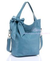 Сумка через плечо 2012 summer newest high quality genuine leather handbag fashon women bag popular with bow bag hot sale HQ33417