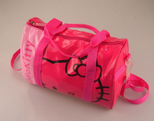 PU leather travel bag for girls