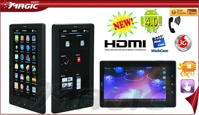 7 inch Q88 allwinner a13 tablet pc with 2g/3g phone call