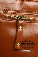 New Campus Backpack School Bookbags Casual PU Brown Backpacks Bags