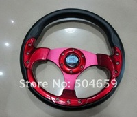High Quality! MOMO 13inches PU Sport Steering Wheel for Sports 320mm Automobile Racing Steering Wheel MORE COLOR for option