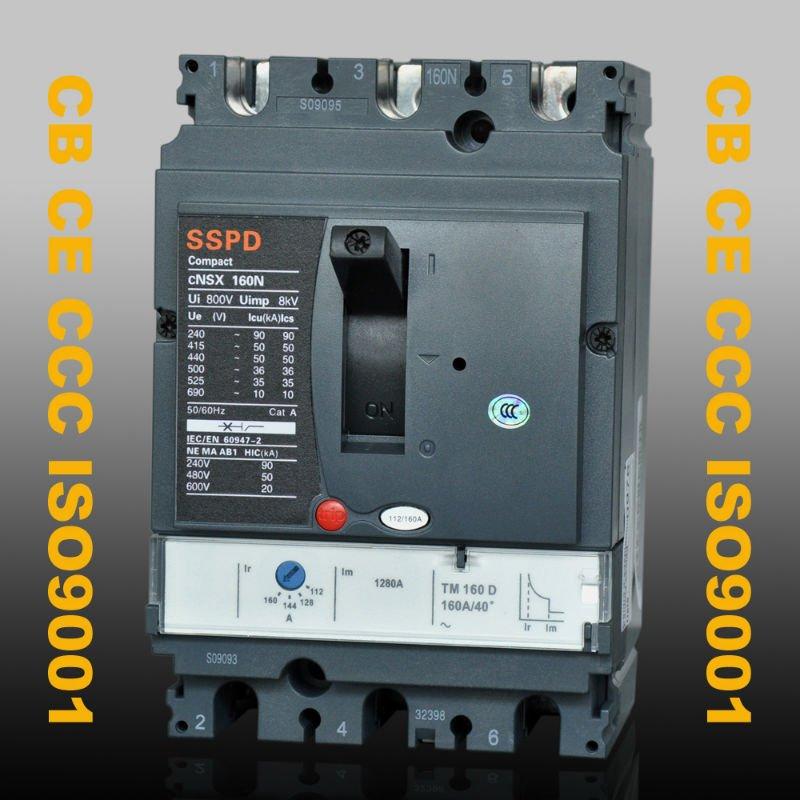 Disjoncteur de la CE ccc ISO9001 CNSX 160N 3Pole de CB