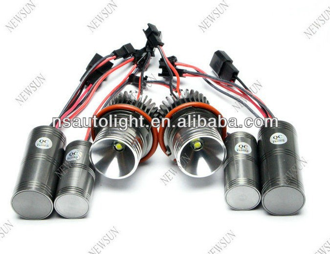 Hottest Sale For BMW E39 E53 E60 E61 E63 E64 E65 E66 E87 X3 10w LED Angel Eyes Halo Ring Lights