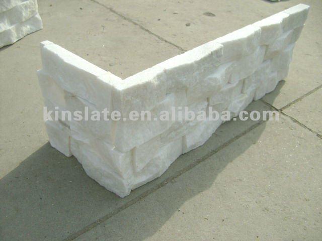 Bianco naturale di pietra mattoni di rivestimento della parete ...