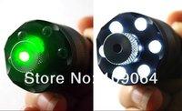 Ультра мощности 200mw 532nm зеленая лазерная указка звезда + 6 водить факел света, может зажигание