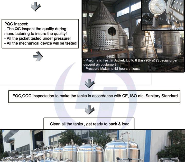 Stainless steel Brew Kettle / Whirlpool Tank(CE certificate)