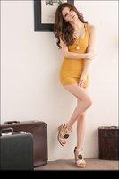 2012 new summer Sexy  charming cotton long sleeveless vest - Orange#12067