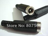 200 Pcs 5.5x2.1mm DC Power Cable Female Plug Connect Socket DC Power black