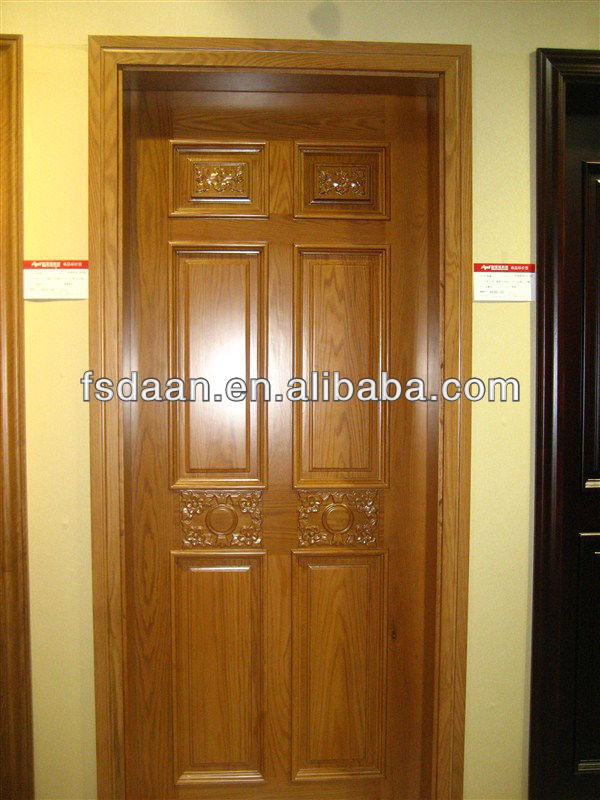 Hot selling solid wooden door in kerala view kerala door for Main door designs for indian homes