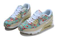 небольшой цветочный спортивный Nike воздуха Макс 90 женщин обувь Размер: 36-40 nike женщин кроссовки кроссовки оригинал